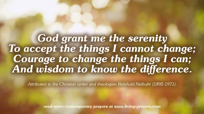 This is a graphic of Printable Serenity Prayer for inspirational